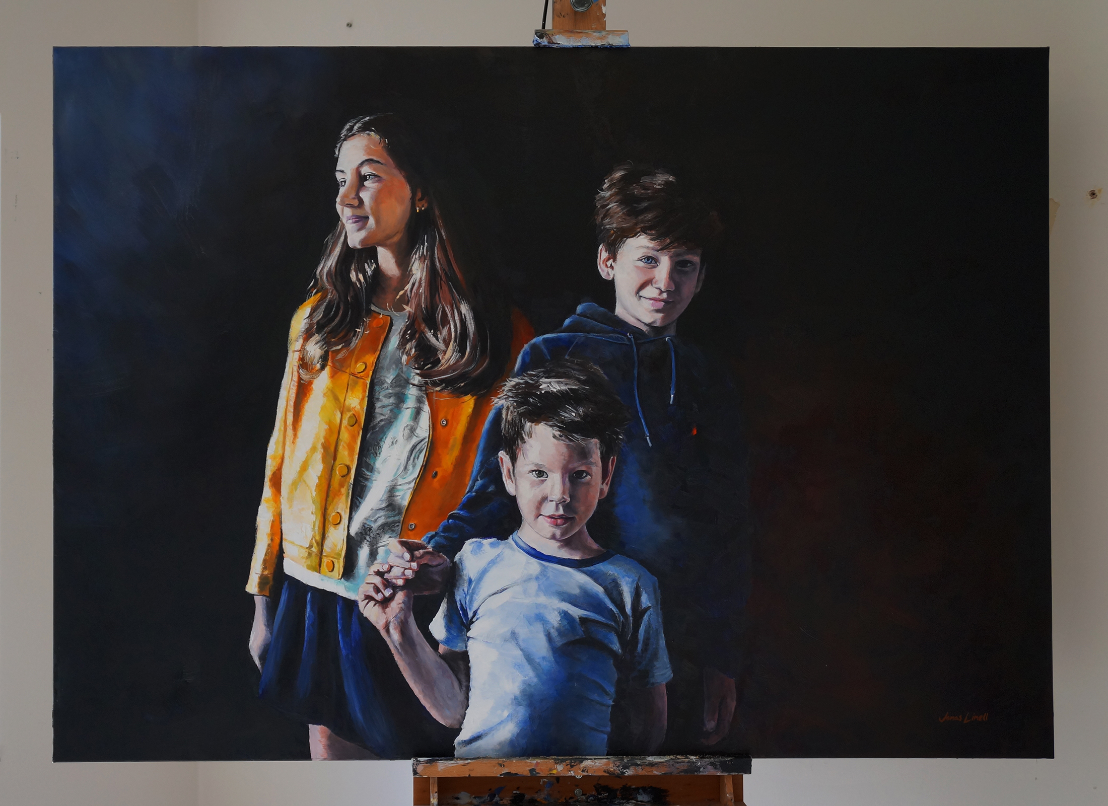 Portrait of The Hugod Children. Oil on canvas, 140 x 100 cm.