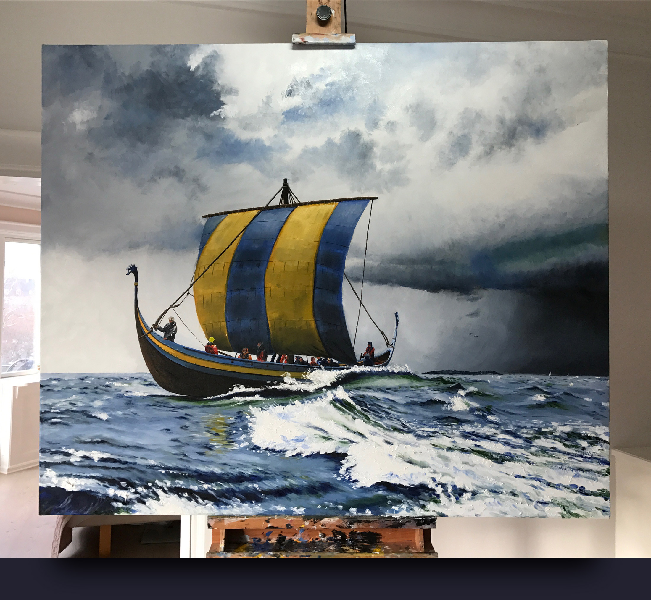 Ladbydragen viking ship by Jonas Linell