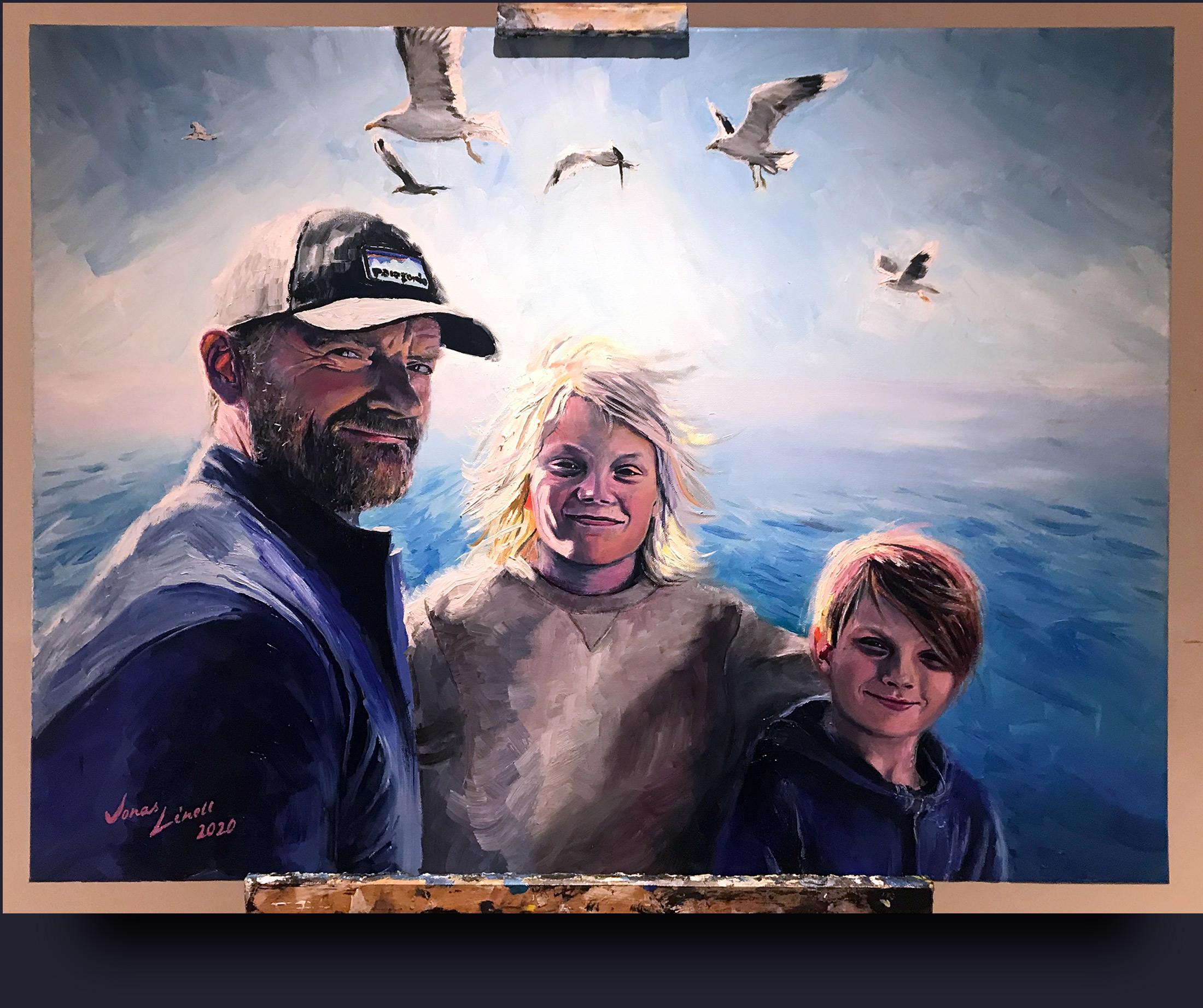 Frank Hvam portrait by Jonas Linell